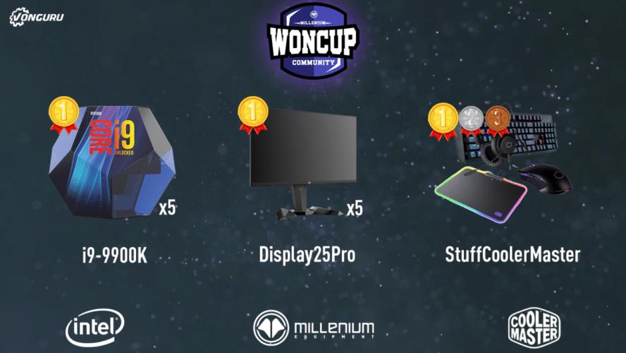récompenses millenium WonCup Community sponsors esport jeux vidéo vonguru