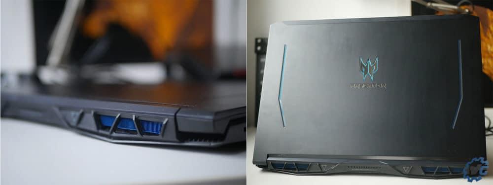 Design de l'Acer Helios 300