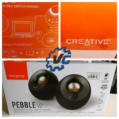 Creative Pebble v2 packaging