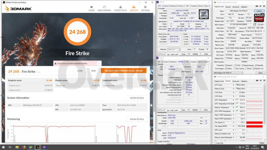 Overclocking avec la RX 5700 XT Red Devil de Powercolor