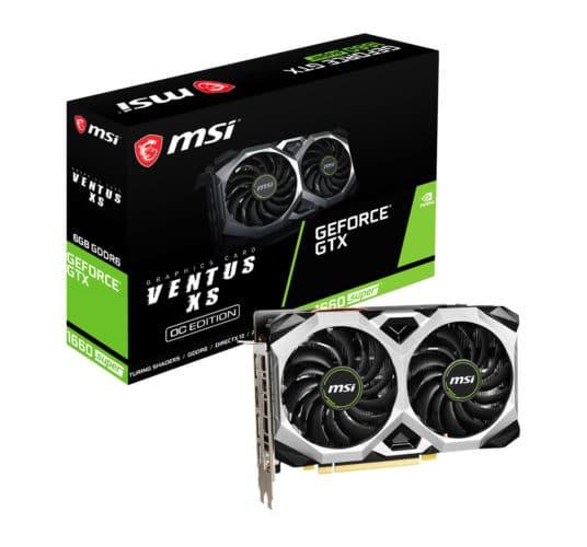 La gamme MSI GTX 1660 Super