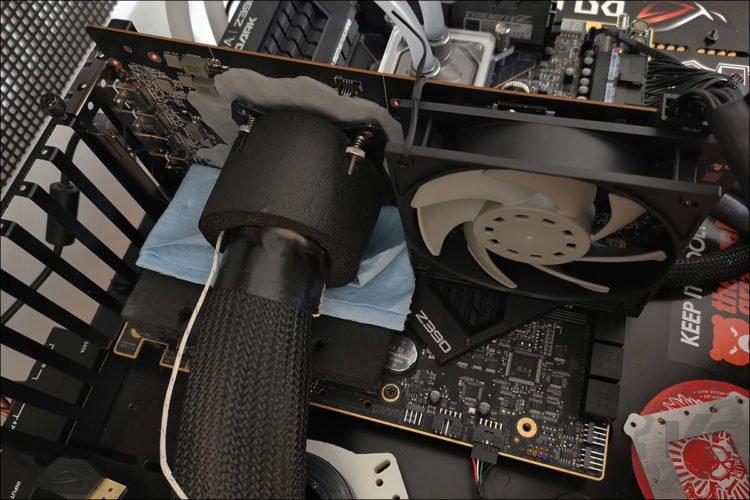 La MSI RX 5700 XT sous froid