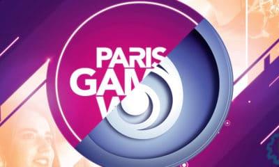 l'image est l'affiche de la Paris Games Week 2019 mixée avec le logo d'ubisoft