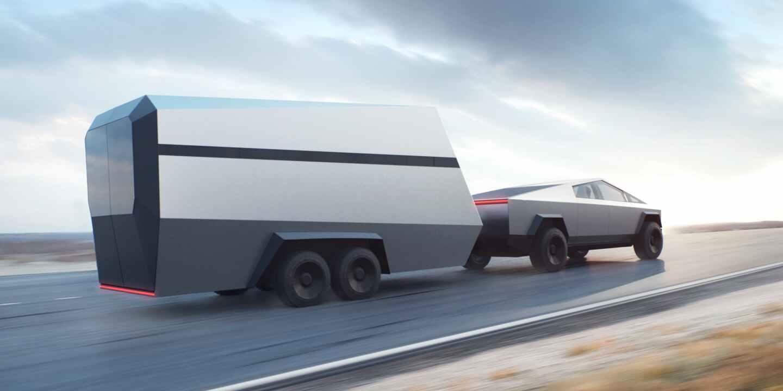 Tesla Cybertruck remorque