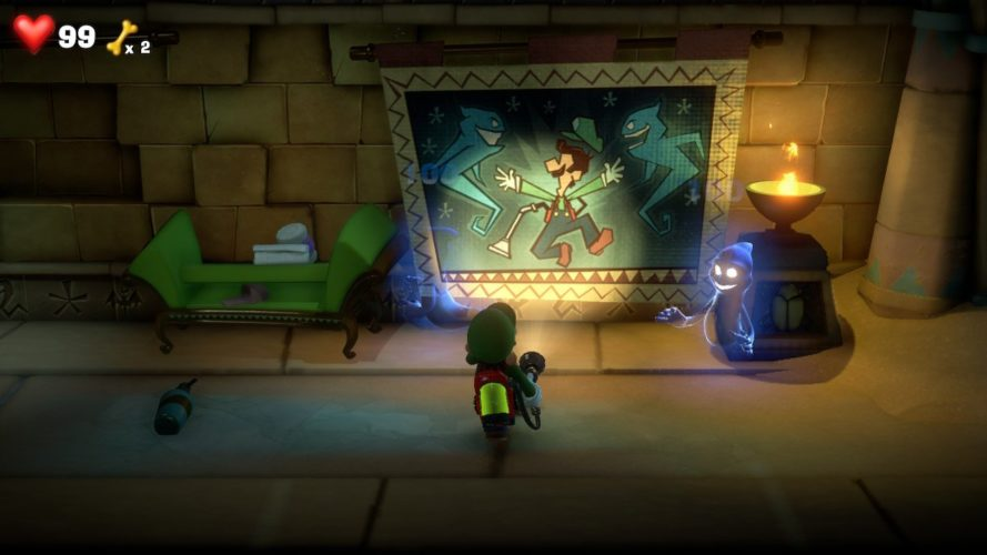Scène de Luigi's Mansion 3 Egypte