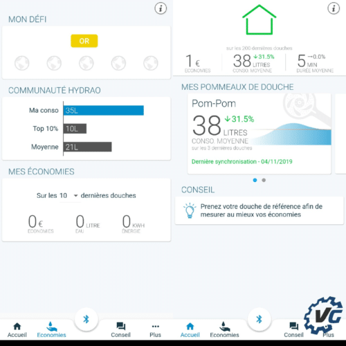 Nouvel application Hydrao stats