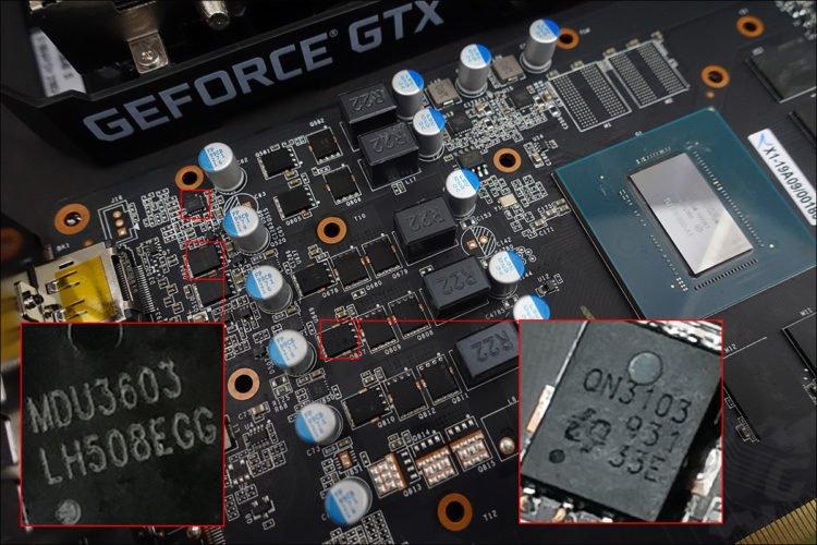 Le PCB de la KFA2 GTX 1660 Super EX