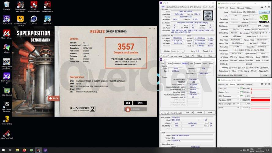 Overclocking avec la KFA2 GTX 1660 Super EX