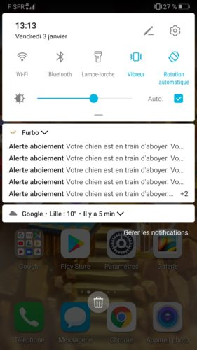 Alertes aboiements furbo camera