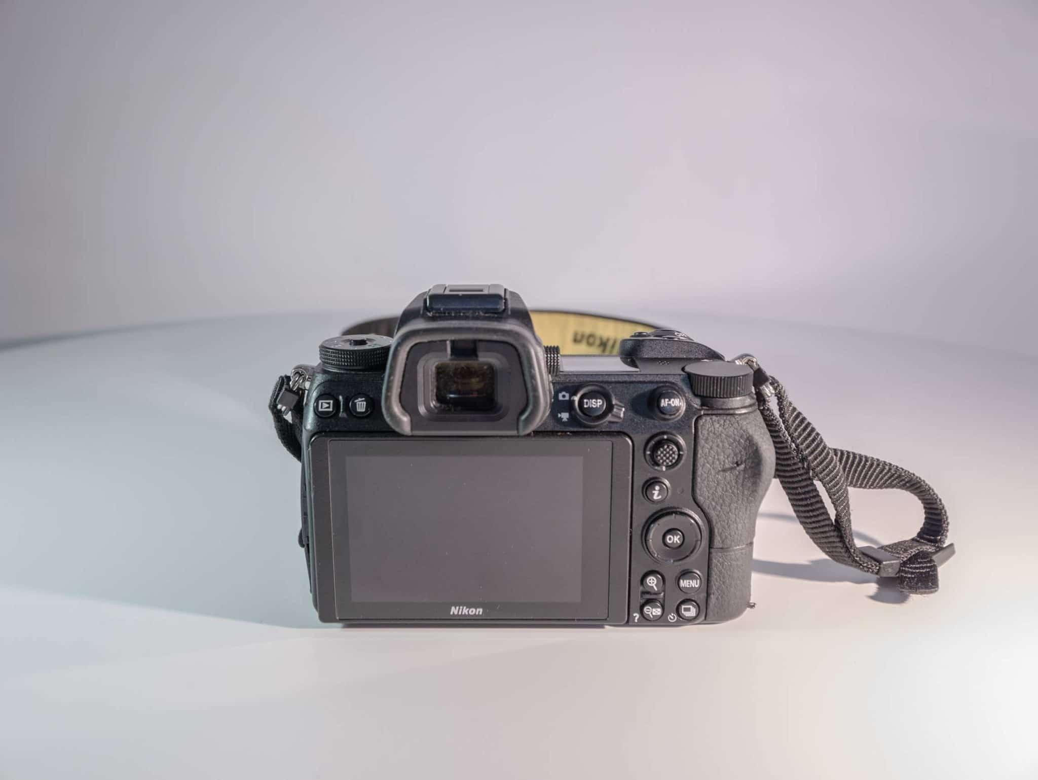Vu arrière du Nikon Z6
