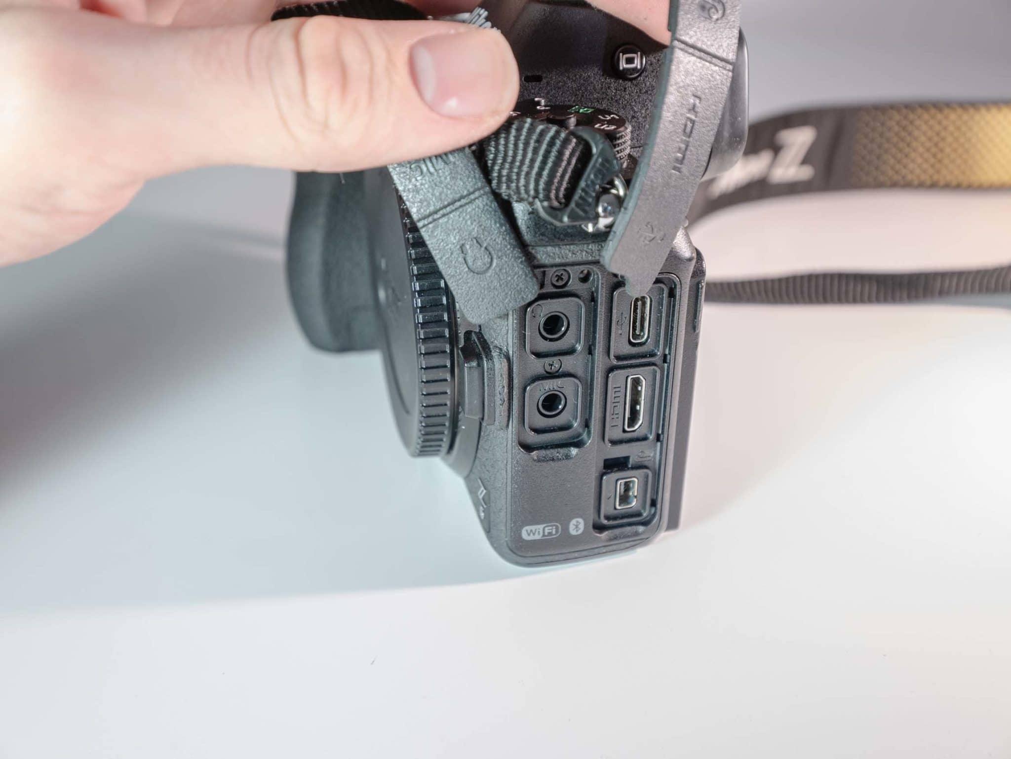 Connectiques du Nikon Z6