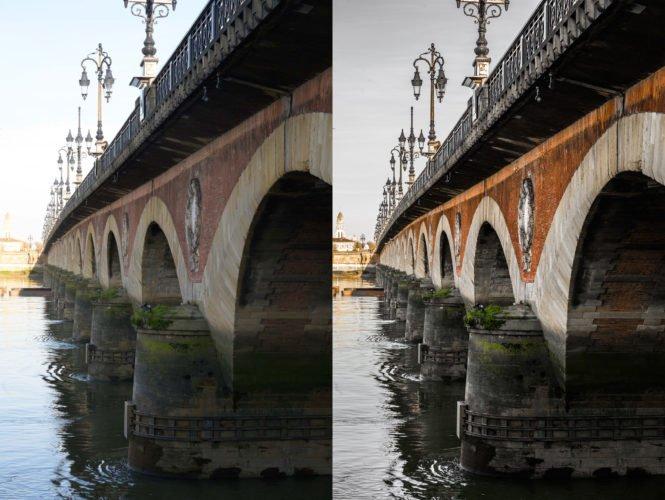 Photo avant/après retouche 2