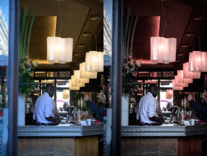 Photo avant/après retouche 1