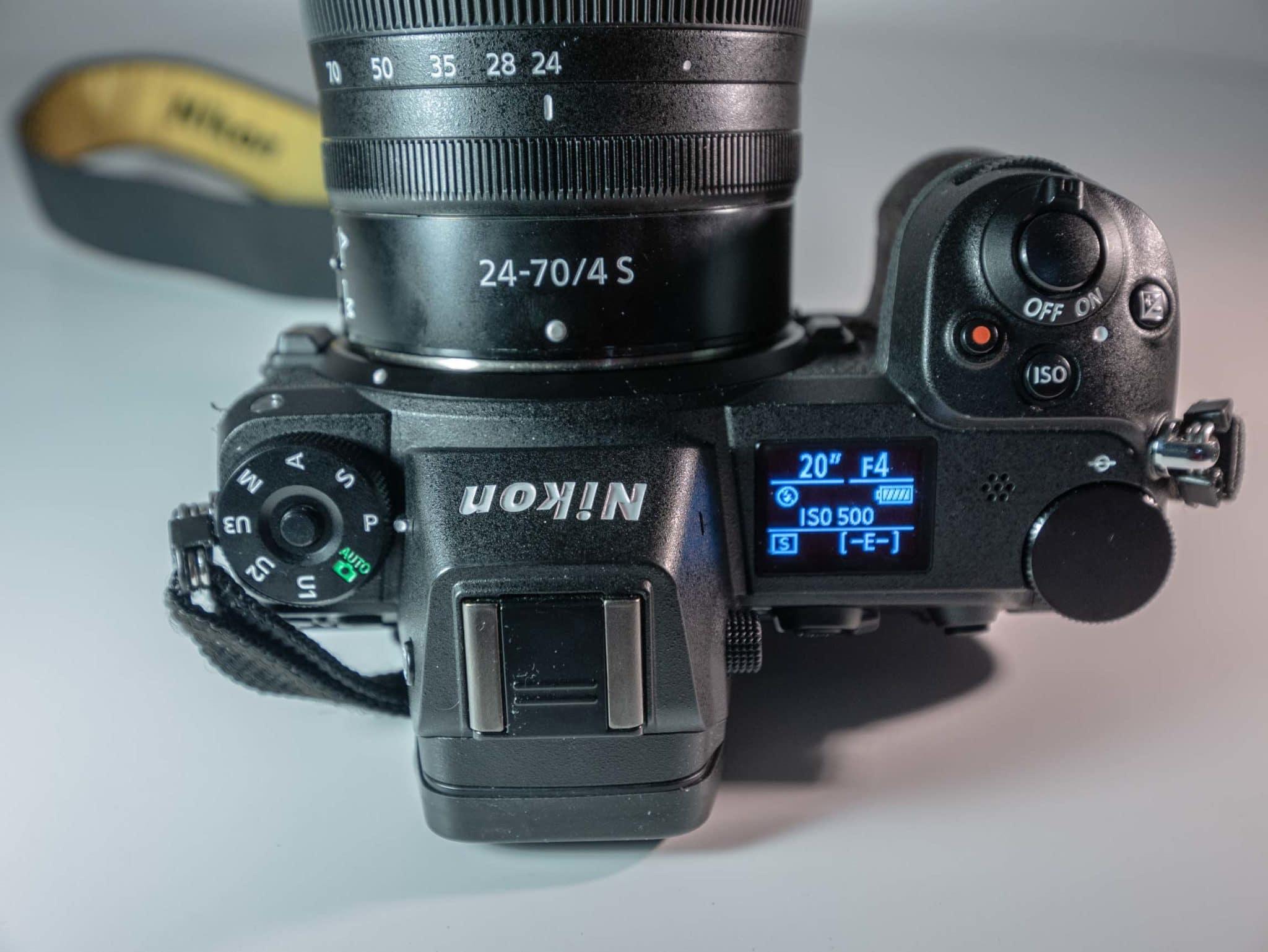 Nikon Z6 vu du dessus
