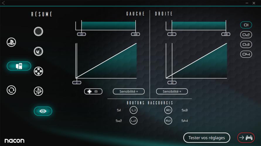 Revolution Pro Controller 3 logiciel paramétrage test vonguru