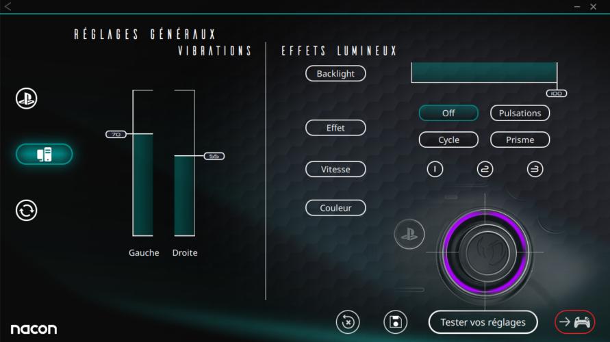 Revolution Pro Controller 3 logiciel réglages généraux test vonguru