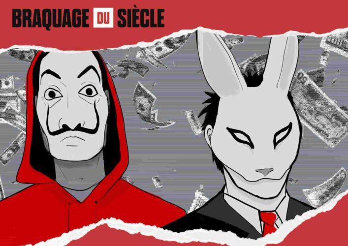 affiche principale de l'escape kit : le Braquage du Siècle