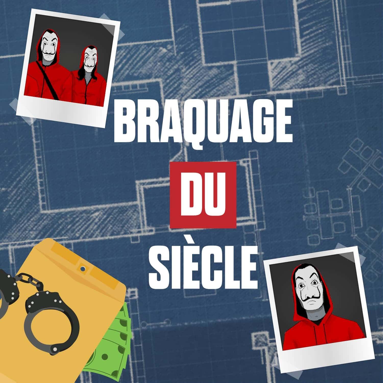 carré principal de présentation de l'escape kit : le Braquage du Siècle