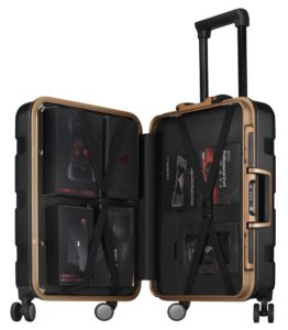 Suitcase Asus Rog ouverte