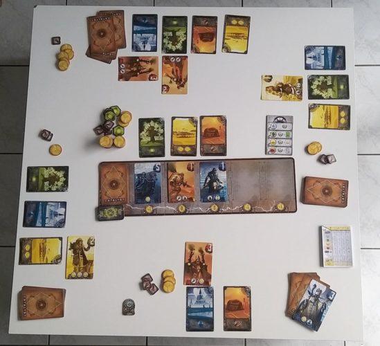 Exemple d'une partie à 4 joueurs