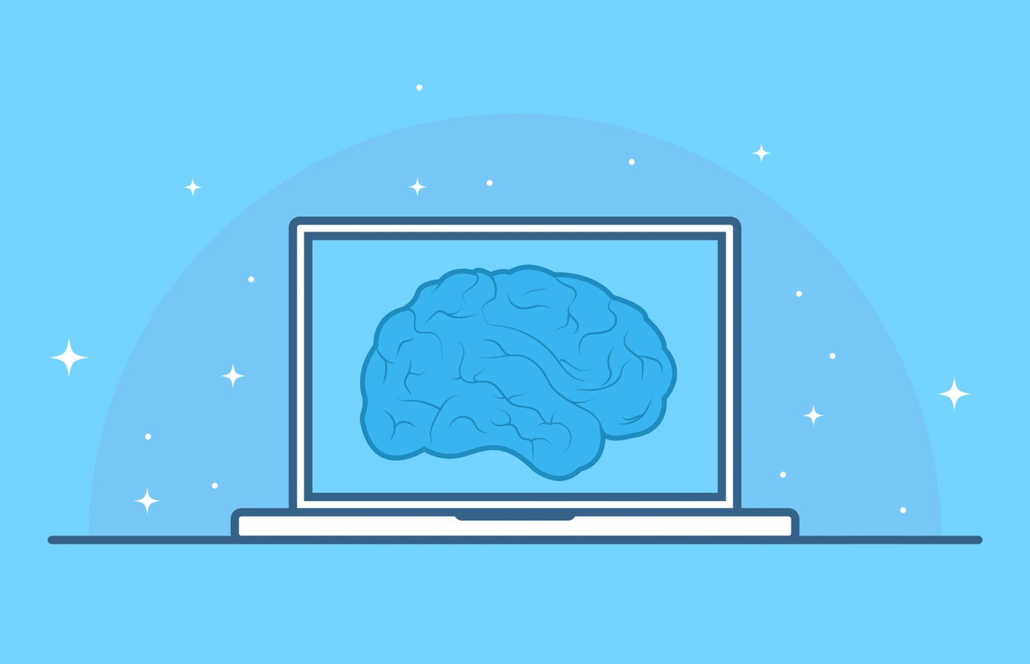 Image de cerveau numérique représentant l'intelligence artificielle