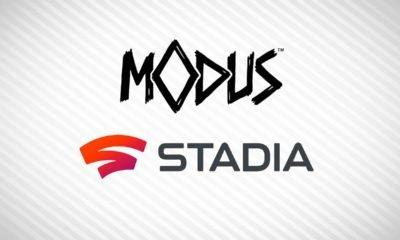 logo Modus Games et Googl Stadia suite à l'annonce de leur association