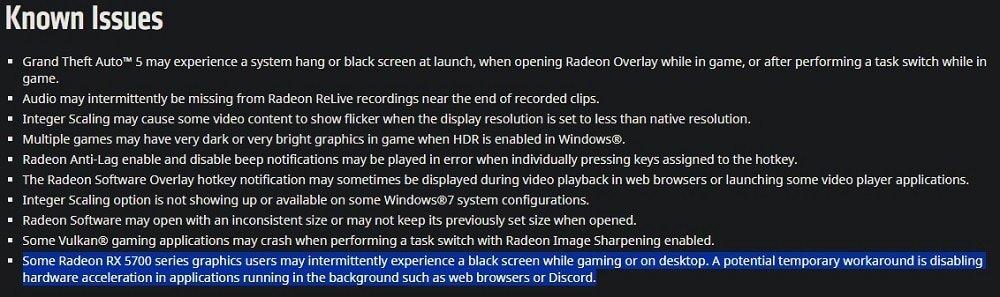 Problèmes connus driver 20.1.3 AMD