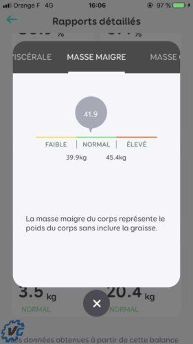 Smart Scale : chiffrage de l'indicateur de masse maigre