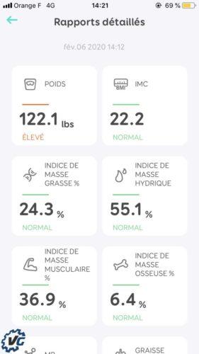 Smart Scale : mesure test