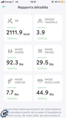 Smart Scale : test mesure
