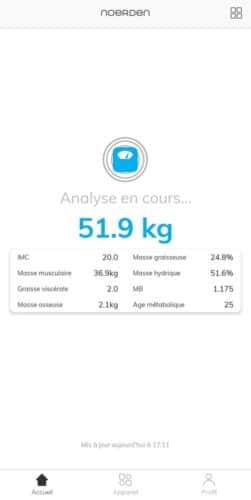 Analyse du poids