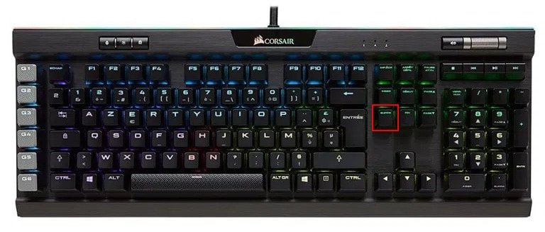 Clavier suppr delete bios