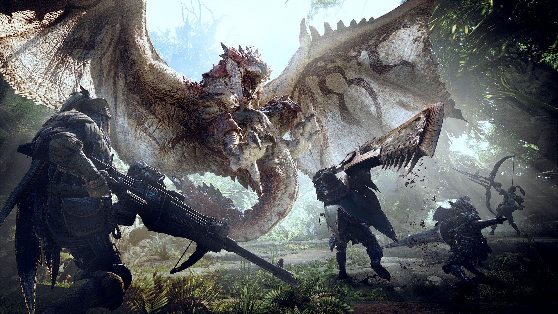 Image une Monster Hunter World pour présentation de l'offre de la version d'évaluation gratuite