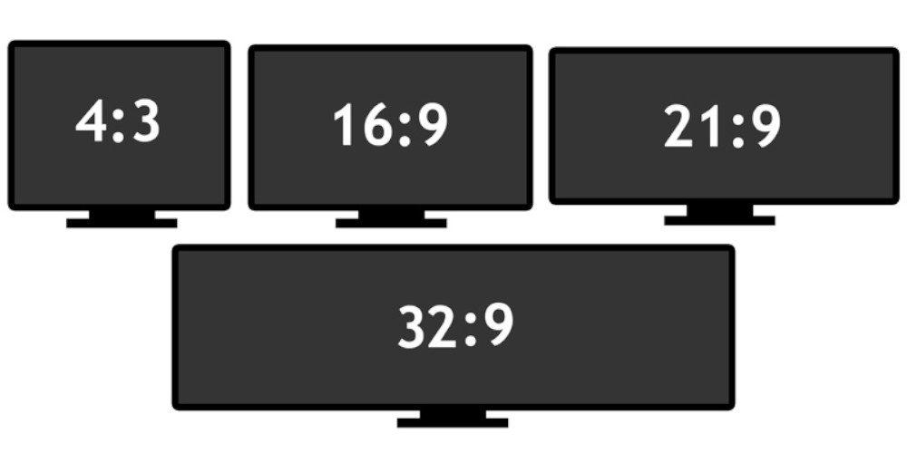 illustration des quatre ratio d'écran les plus répendus