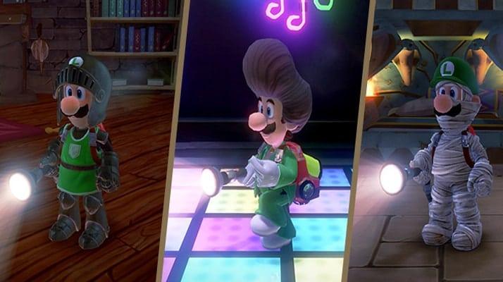 Présentation des nouveaux costumes de Luigi du DLC de Luigi's Mansion 3