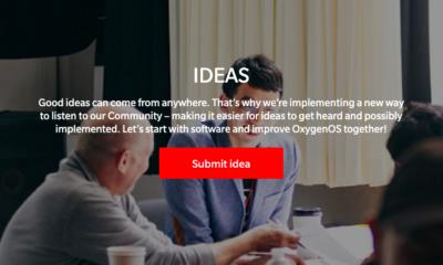 Plateforme de co-création en ligne OnePlus