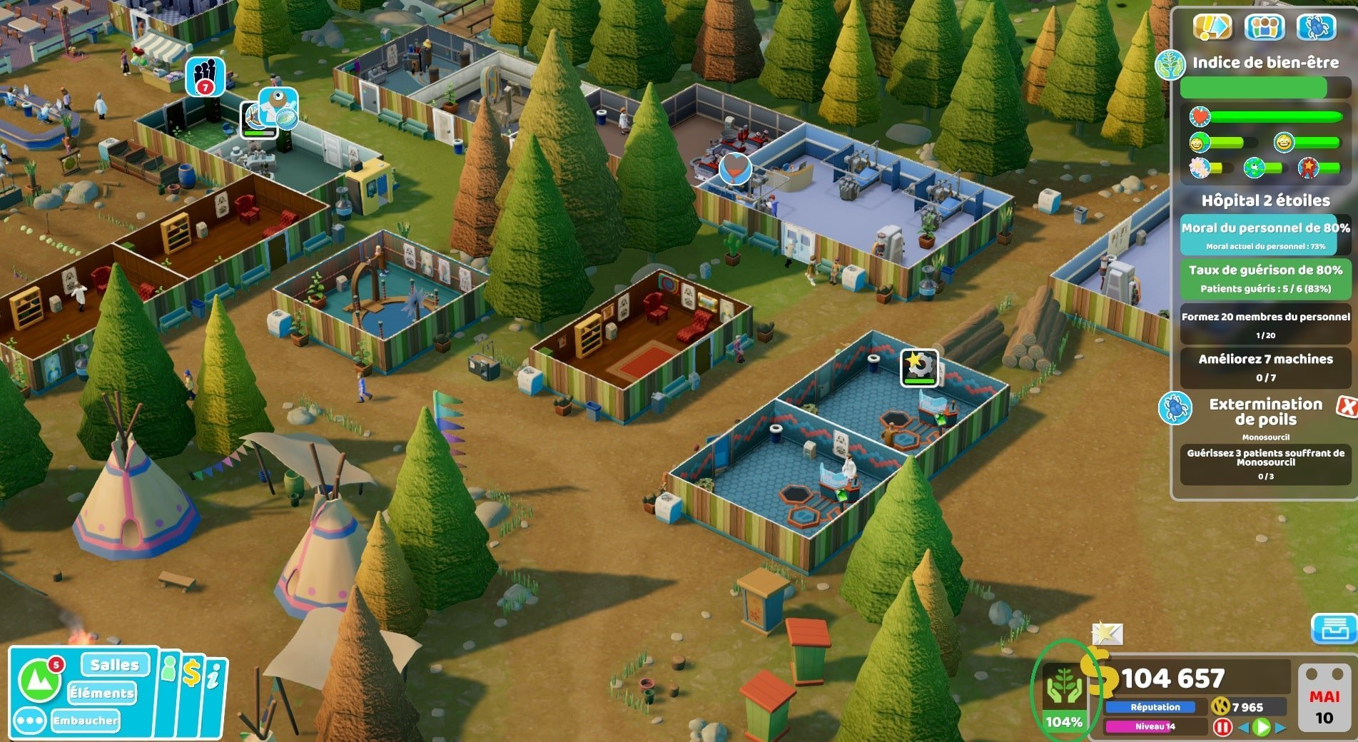 Test Two Point Hospital : Off the Grid image d'un hôpital en plein air