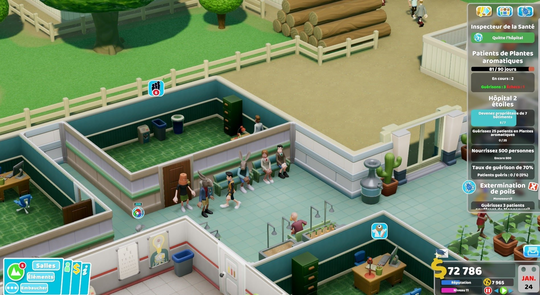 Test Two Point Hospital : Off the Grid image de nouvelles maladies