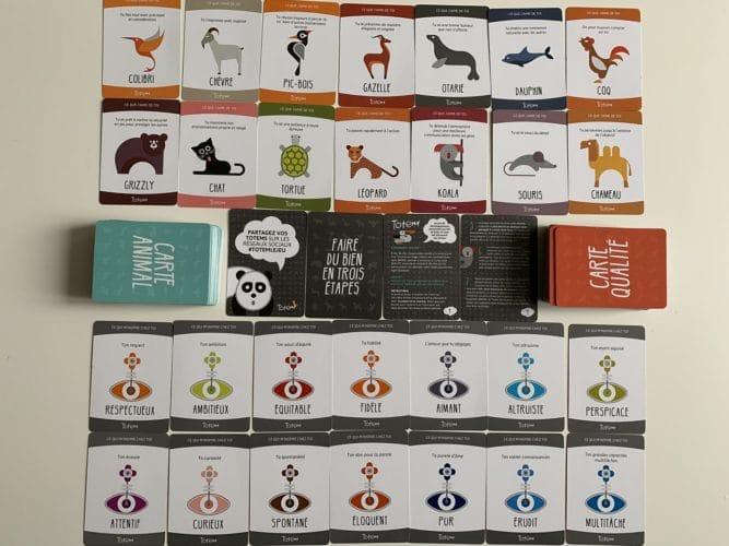 Exemple de cartes pour Totem