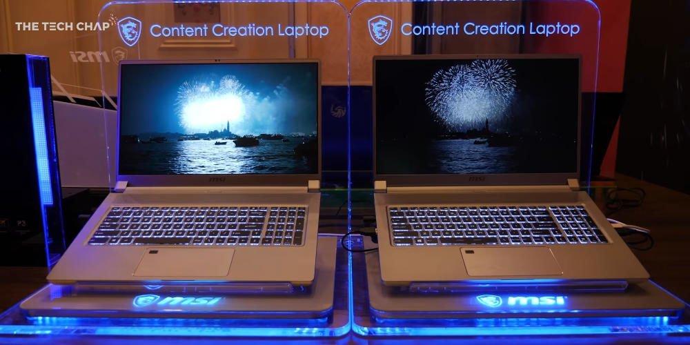Comparaison écran MSI Creator et MSI Prestige