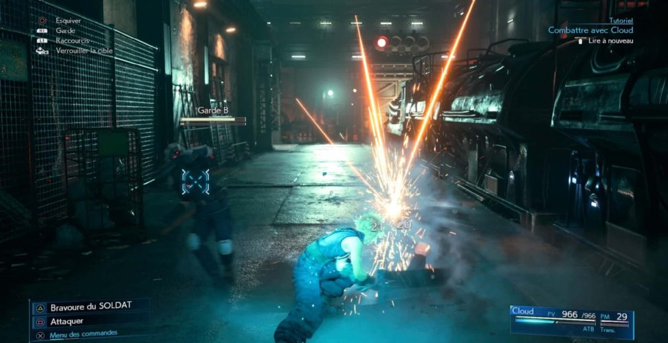 test de final fantasy VII remake - combat