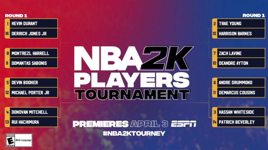Tableau du tournoi de NBA2k organisé par la NBA