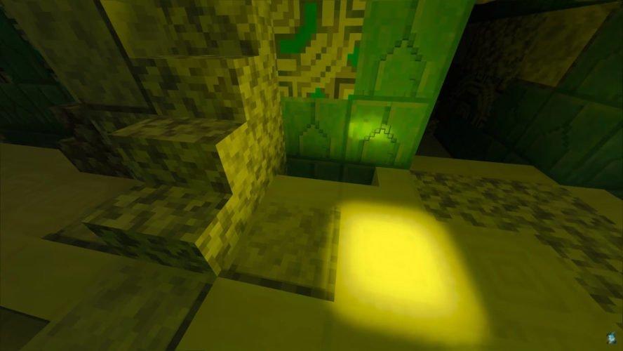 Le bloc blanc reflète la lumière autour de lui