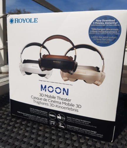 Test royole moon 3d mobile theater - boîte