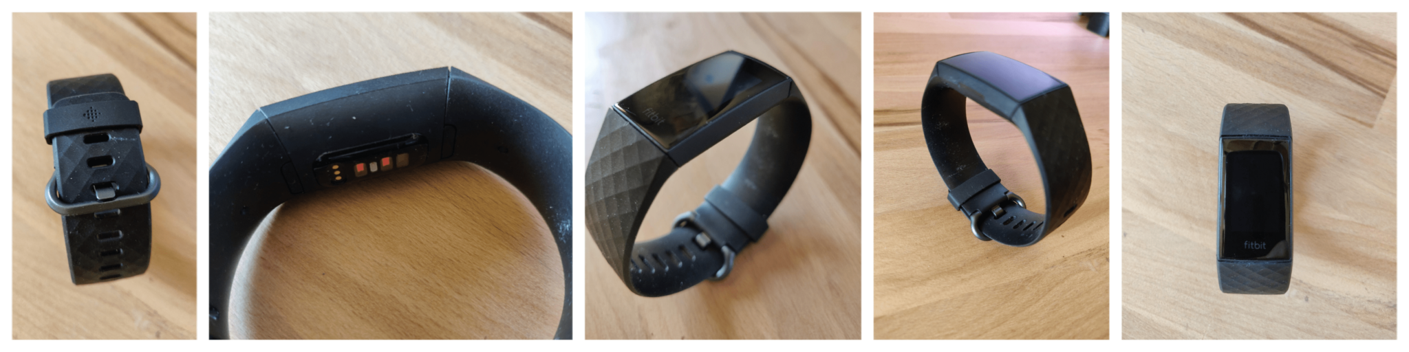 Fitbit Charge 4 différents angles