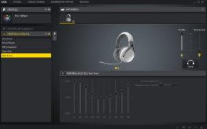 Prereglages de l'Egaliseur du logiciel icue de corsair pour le casque virtuoso wireless