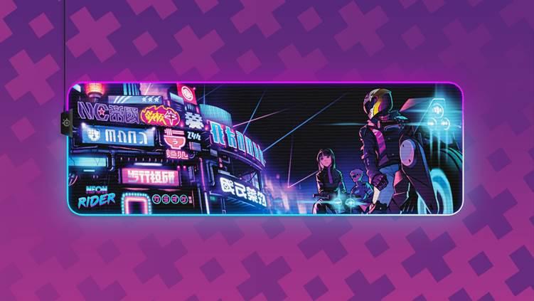 Tapis XL Neon Rider