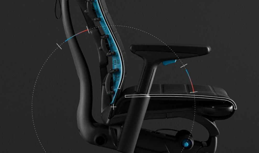 Assise de la chaise LogitechG x Herman Miller