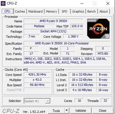 Rendu CPU-Z du Asus ROG Srix GA35