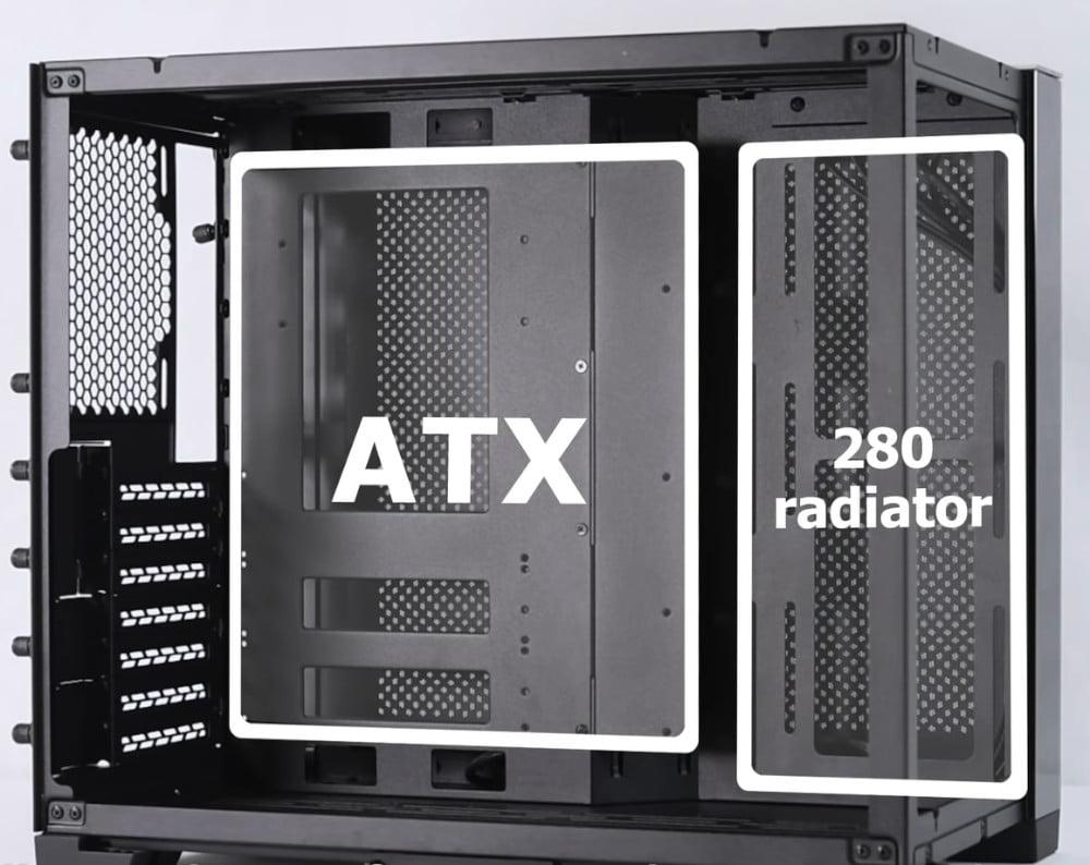 Lian Li PC-011 Dynamic Mini configuration ATX